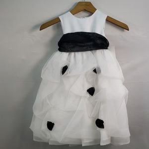 US ANGELS FLOWER GIRL DRESS WHITE STYLE 909
